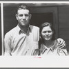 Young migratory couple living at the Agua Fria Migratory Labor Camp, Arizona