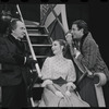 Martin Gabel, Inga Swenson and Fritz Weaver in the stage production Baker Street