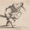 L'homme s'apprêtant a tirer son sabre