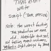 Sub-series 18 - Tight Right White