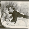 Mae West and unidentified actor (in bed) in the stage production Diamond Lil