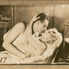Mae West (on bottom) and an unidentified actor in the stage production The Constant Sinner