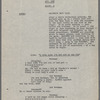 Typescript, with note by Jerome Robbins on title page