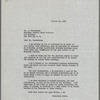 Letter regarding Jerome Robbins's research for Fiddler on the Roof