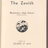Weehawken High School yearbook, signed by Jerome Robbins (Jerry Rabinowitz) and others