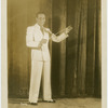 Portrait of Ralph Cooper, actor, dancer and master of ceremonies for Amateur Night at the Apollo Theater in Harlem, New York, circa 1935