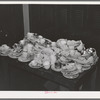 Dirty dishes after Jaycees' supper at high school. Eufaula, Oklahoma. See general caption number 25