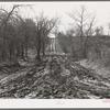 Muddy road, McIntosh County, Oklahoma