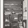 Cabinet and desk of farmer. McIntosh County, Oklahoma