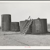 Oil storage tanks. Slick, Oklahoma