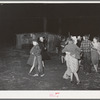 Swing game at play party in McIntosh County, Oklahoma. See general caption number 26