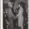 """Farm boy and girl playing """"Pleased or displeased"""" at play party in McIntosh County, Oklahoma. See general caption 26"""