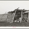 Cowshed on farm of negro farmer in McIntosh County, Oklahoma