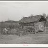 Log barn of Negro farmer in McIntosh County, Oklahoma