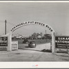 Entrance gate to the San Angelo Fat Stock Show. San Angelo, Texas