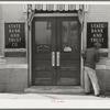 Bank door in San Marcos, Texas