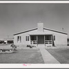 Rear of the community buiding is used for the WPA (Work Projects Administration) nursery school. Agua Fria migratory labor camp, Arizona