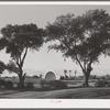 Municipal band shell seen from the golf course. Phoenix, Arizona