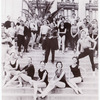 New York City Ballet posed on steps with George Balanchine in the center, no. 50