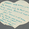 Paper heart-shaped messages in English