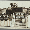 Why not in New York? suffrage rally photograph