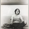 Judy Cartisano poses in her Lavender Menace t-shirt before confronting the women's movement on the issue of gay and lesbian rights.