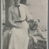 Publicity photograph of Rida Johnson Young and her dog as published in Green Book, May 1912