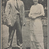 Publicity photograph of Christy Mathewson and Rida Johnson Young during the stage production The Girl and the Pennant