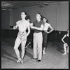 George Balanchine rehearsing Capriccio Brillante with Maria Tallchief and Andre Eglevsky
