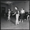 Andre Eglevsky rehearsing Capriccio Brillante with Maria Tallchief, George Balanchine, Irene Larsson and others