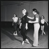 Andre Eglevsky rehearsing Capriccio Brillante with George Balanchine, Irene Larsson, Barbara Bocher and Constance Garfield