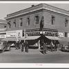 Chain stores on main street of La Junta, Colorado