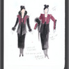 The Bay at Nice: costume sketches for Valentina (Estelle Parsons)