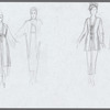 The Bay at Nice: uncolored draft costume sketches, likely for Valentina