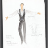 Besame: costume sketch for Pedro Ruiz