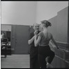 Pierre Vladimiroff instructing unidentified student at the School of American Ballet
