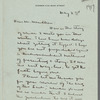 Letter from Willa Cather of May 2, 1919