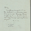 Letter from Willa Cather of May 12, 1916