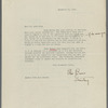 Letter on behalf of Willa Cather by Ellen Burns, Secretary of December 11, 1922