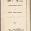 Collection of Abbey Theatre ephemera