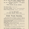 The Royalty Theatre: The Programme of The Irish National Theatre Society, March 26, 1904