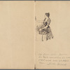 Original pen drawing of a flower seller in Paris