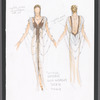 Victor Victoria: costume sketch for Julie Andrews as Victoria in finale, SK #12