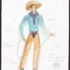 The Will Rogers Follies: costume sketch for Will - Traveling Young Man (Keith Carradine), SK #2