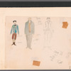 Chaplin: unnamed costume sketch, possibly for Charlie Chaplin