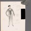 Chaplin: costume sketch, 1917