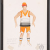 Chaplin: costume sketch for Keystone Studio Bathing Beauty (Ric Stoneback), SK 21