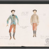 Chaplin: costume sketch for Young Charlie (Scott Grimes), SK 23