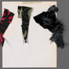 Chaplin: costume sketch and fabric swatches for wife (Marsha Bagwell), SK 27