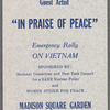 In Praise of Peace flier